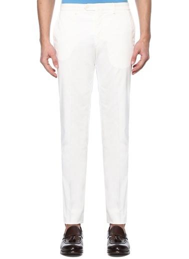 Luciano Barbera Pantolon Beyaz